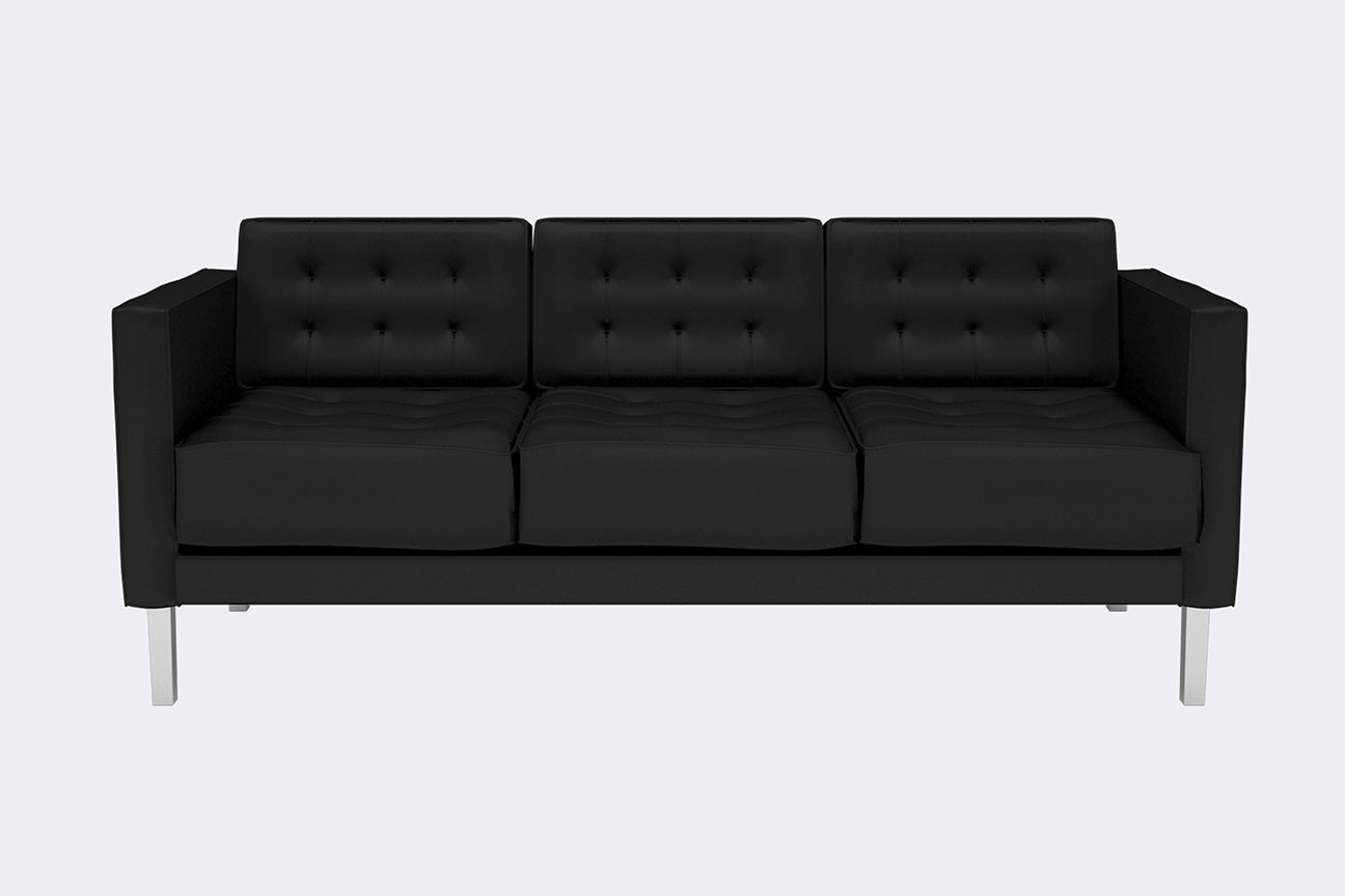 Undefined modern tufted 3 seater sofa